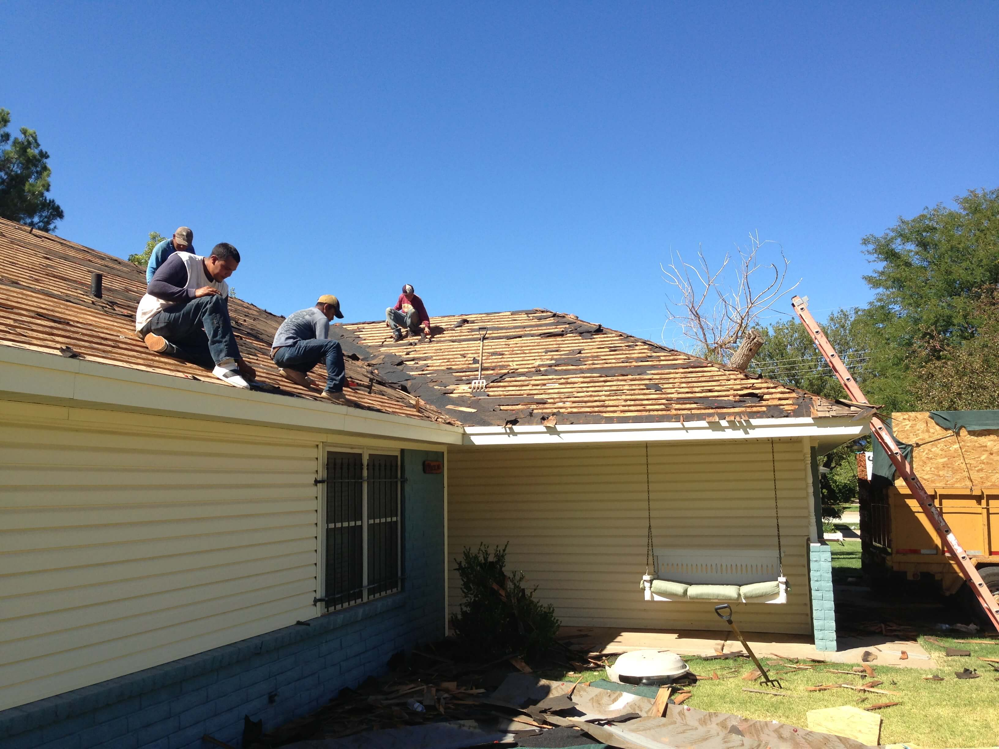 Roof Tear Down