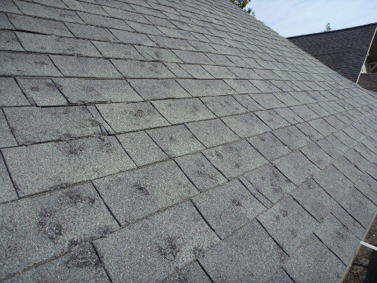 Storm Hail Damage Roof Repair Cranberry Township Pa