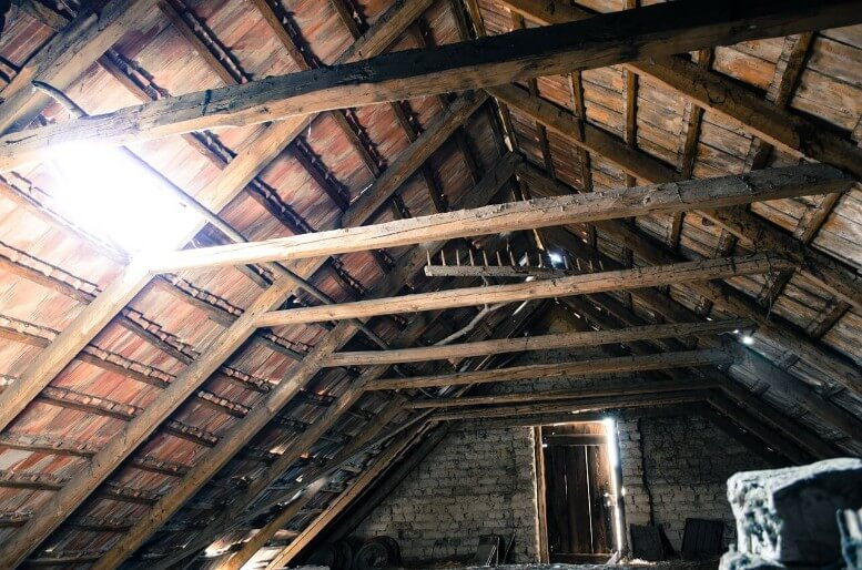 Roof Repair Sunbeams In Attic