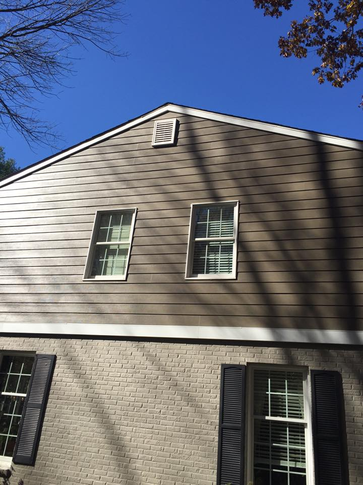 new siding installed