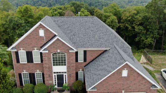 new gray asphalt roof